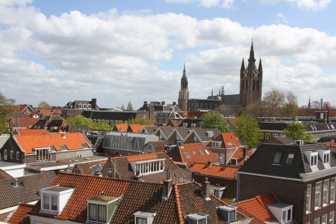 Views over Delft from the Molen de Roos, Netherlands