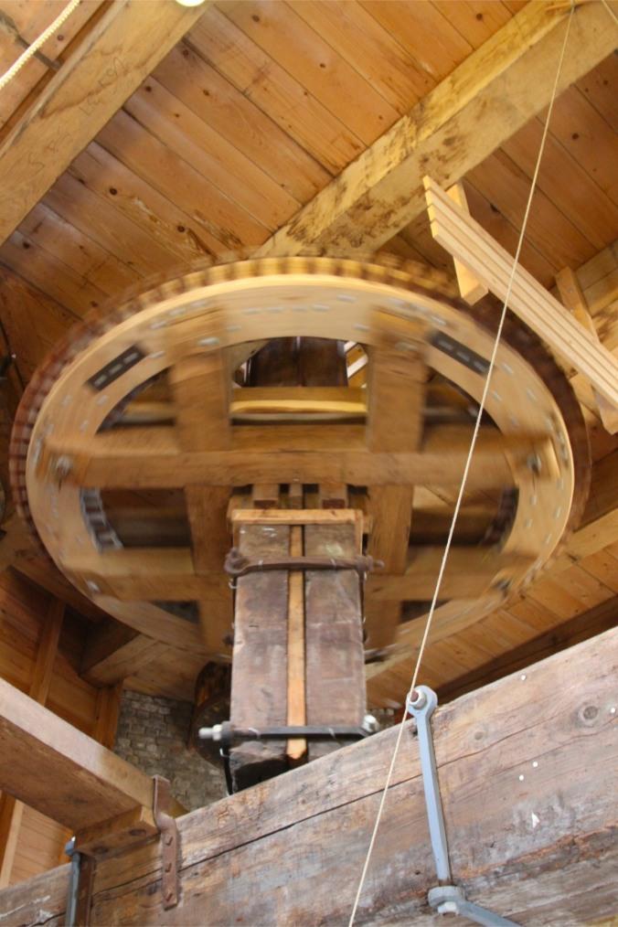 Flour grinding mechanism, Molen de Roos, Delft, Netherlands