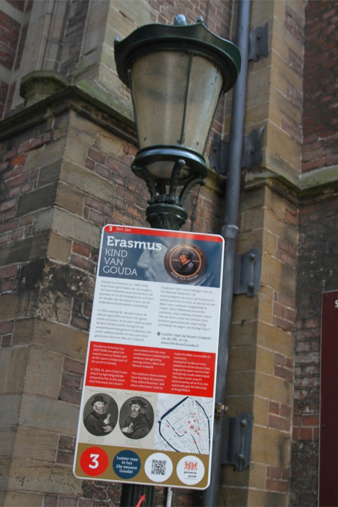 Plaque to Erasmus, Gouda, Netherlands