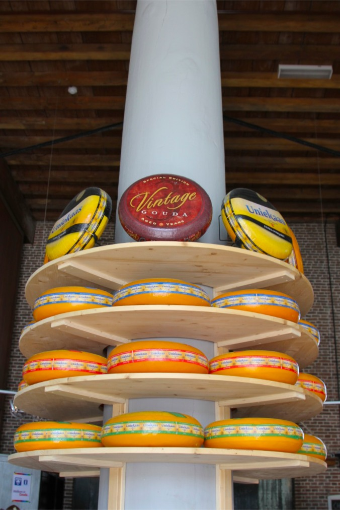 Rounds of Gouda cheese, Gouda, Netherlands