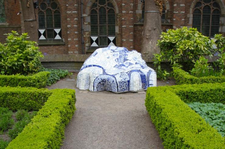 Delftware chair, Delft, Netherlands