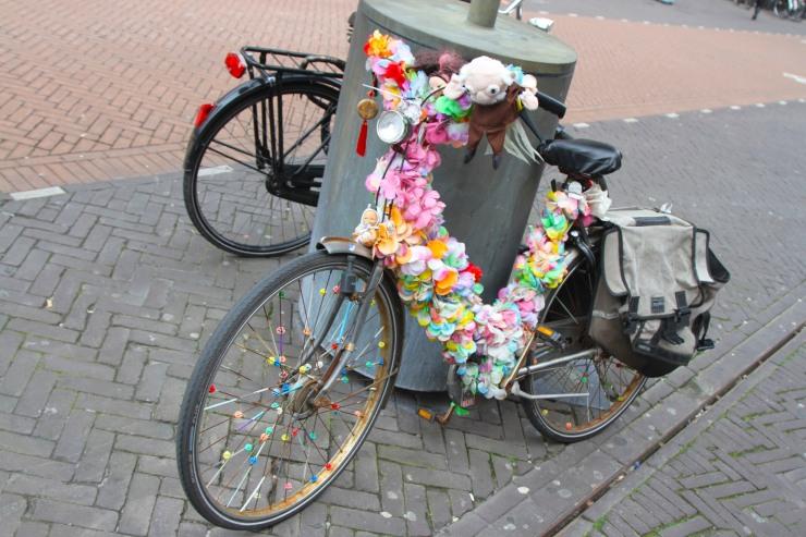 Flower power bike, The Hague, Netherlands