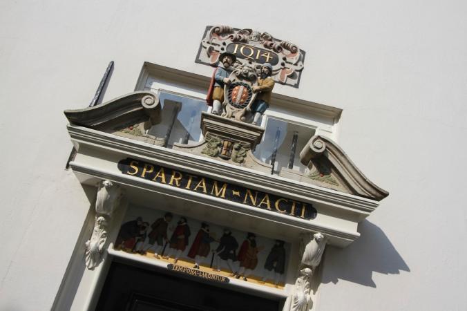 Doorway from 1614, Gouda, Netherlands