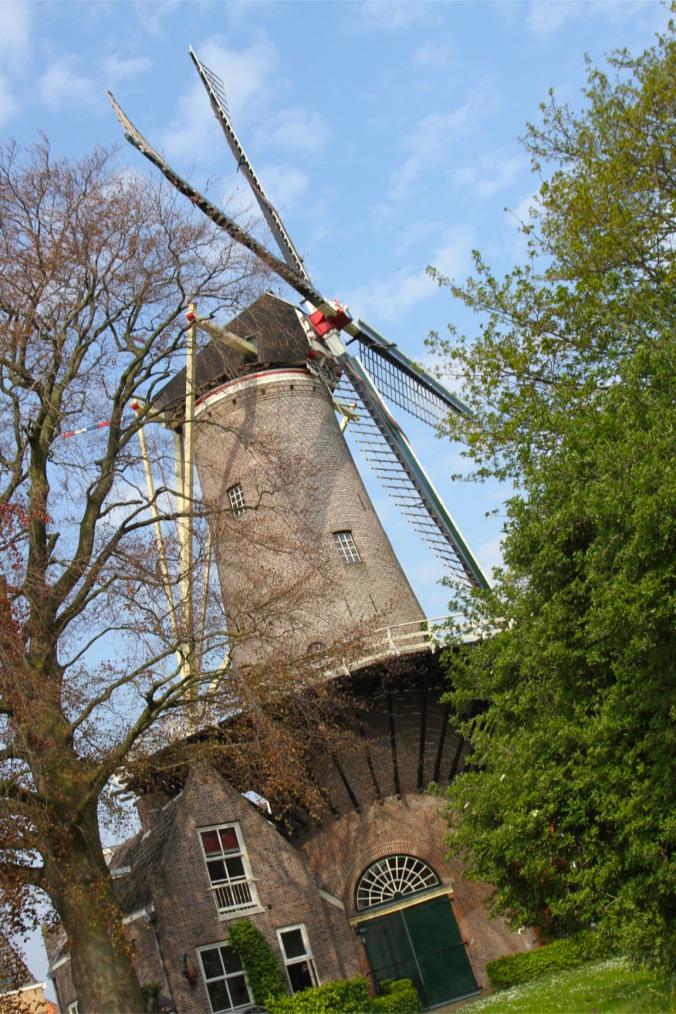 Molen 't Slot windmill, Gouda, Netherlands
