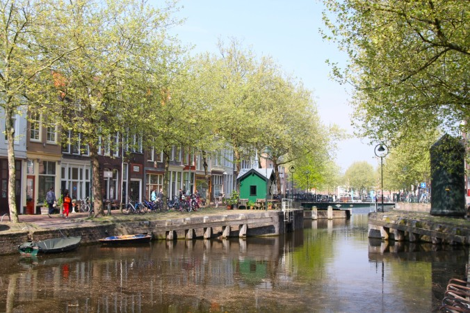 Canal and buildings, Gouda, Netherlands