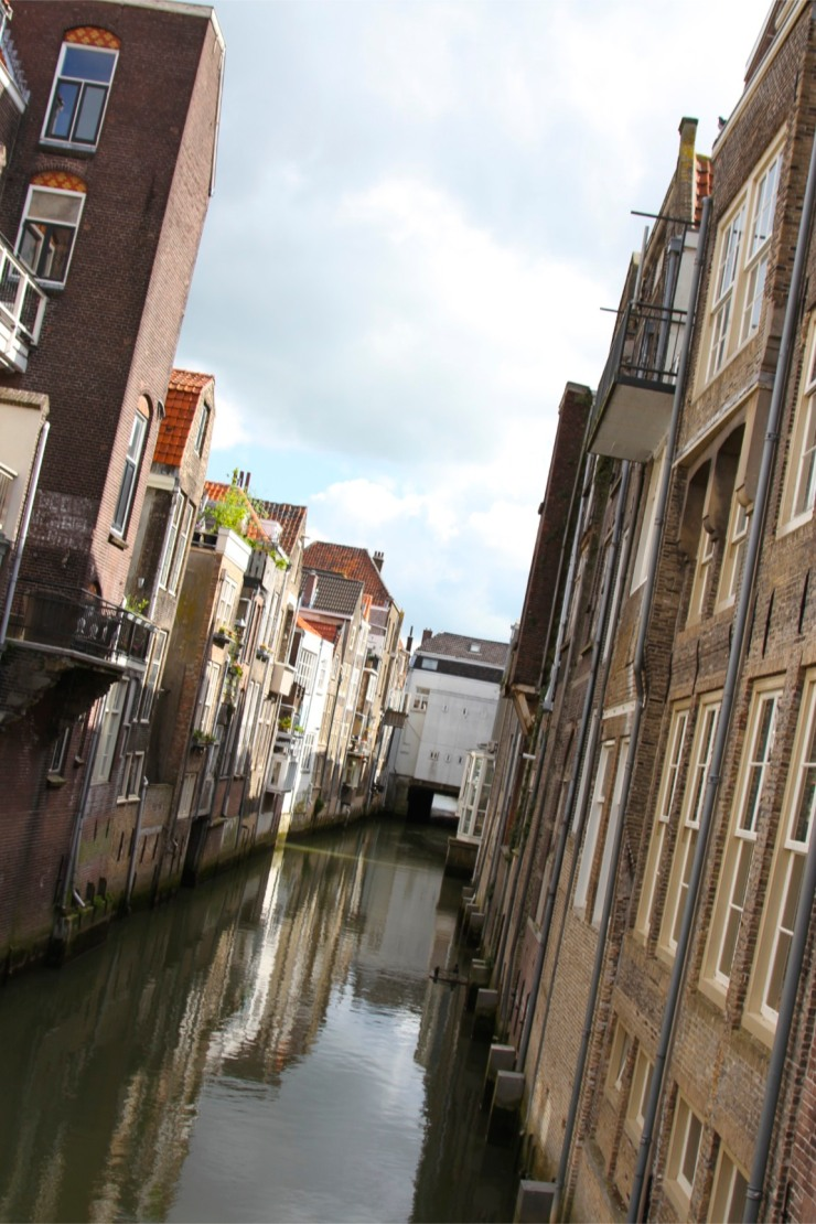 Canal and buildings, Dordrecht, Netherlands