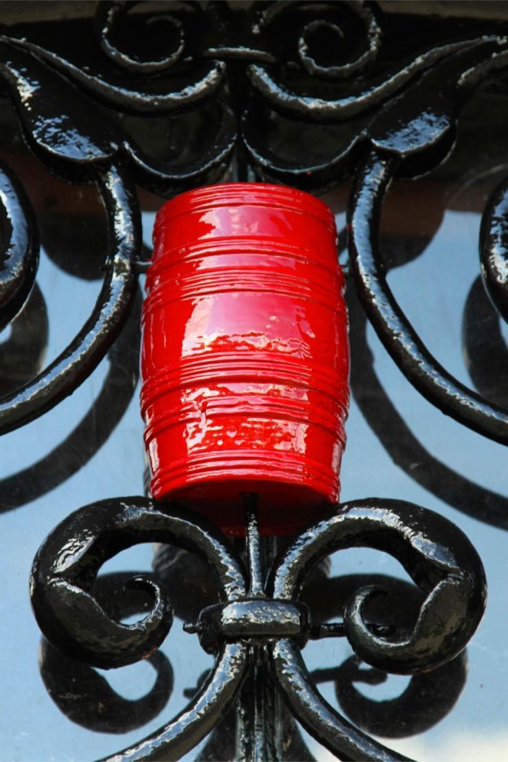 Wine barrel motif on a door, Dordrecht, Netherlands