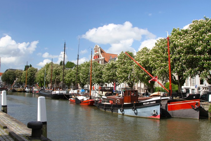 Canal and boats, Dordrecht, Netherlands