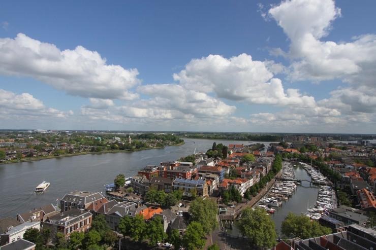 The view from Onze Lieve Vrouwekerk, the Grote Kerk, Dordrecht, Netherlands