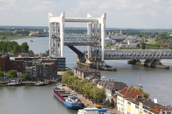 Views of Dordrecht's bridges from the Grote Kerk, Dordrecht, Netherlands