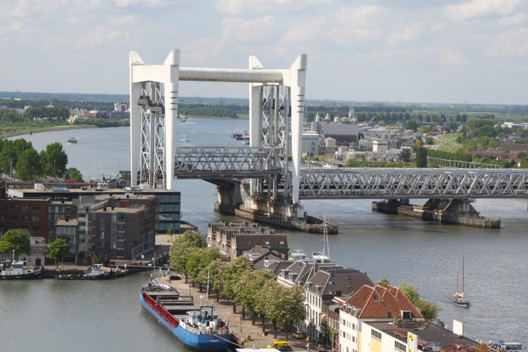 Views of Dordrecht's bridges from the Grote Kerk, Dordrecht, Netherlands