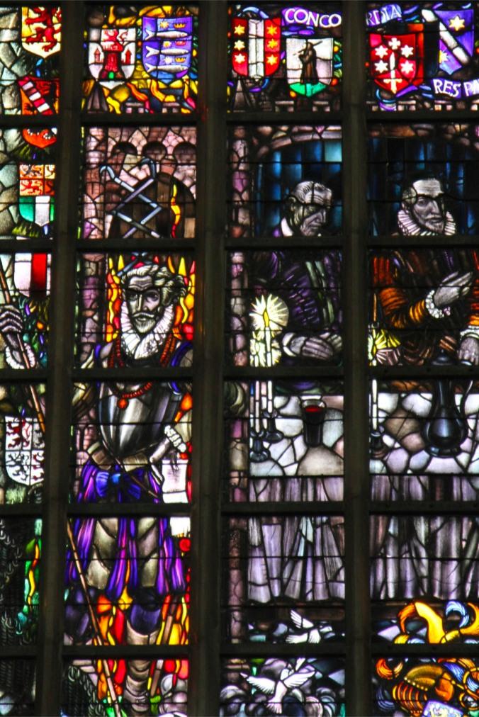 Stained glass window, Onze Lieve Vrouwekerk, the Grote Kerk, Dordrecht, Netherlands