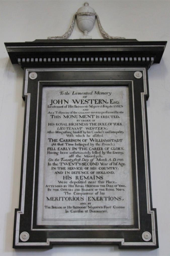 John Weston memorial, Onze Lieve Vrouwekerk, the Grote Kerk, Dordrecht, Netherlands