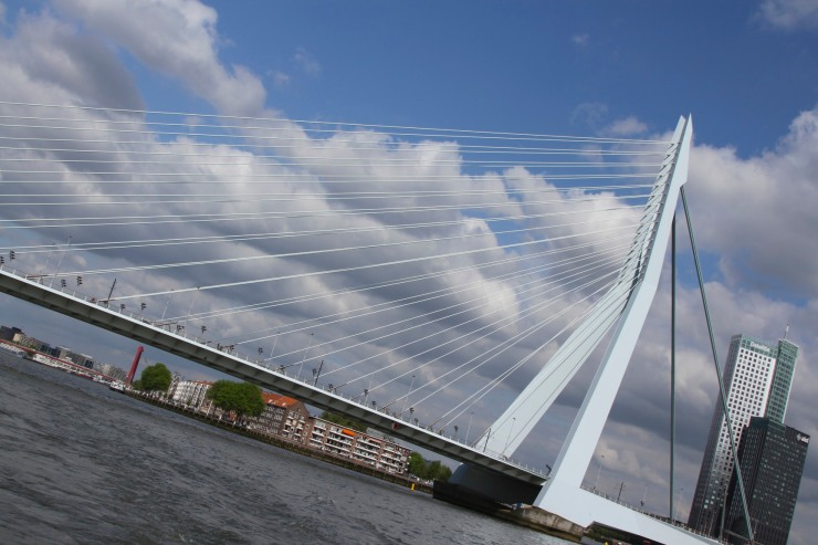 Rotterdam bridge over the Noord, Netherlands