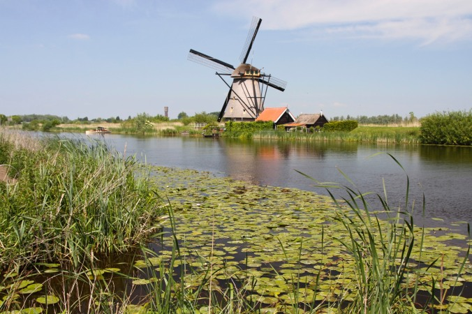 Smock windmill at Kinderdijk, Netherlands