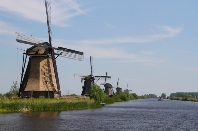Smock windmills at Kinderdijk, Netherlands