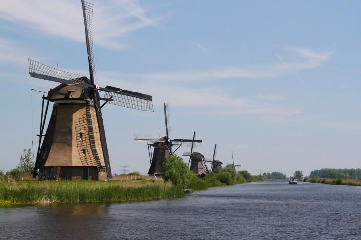 Smock windmills at Kinderdijk, Netherlands