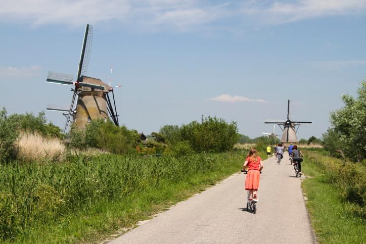 Tower or Rotating Cap windmills at Kinderdijk, Netherlands