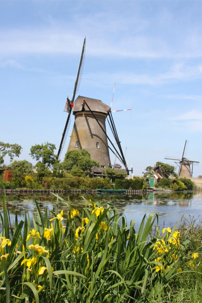 Tower or Rotating Cap windmills at Kinderdijk, Netherlands