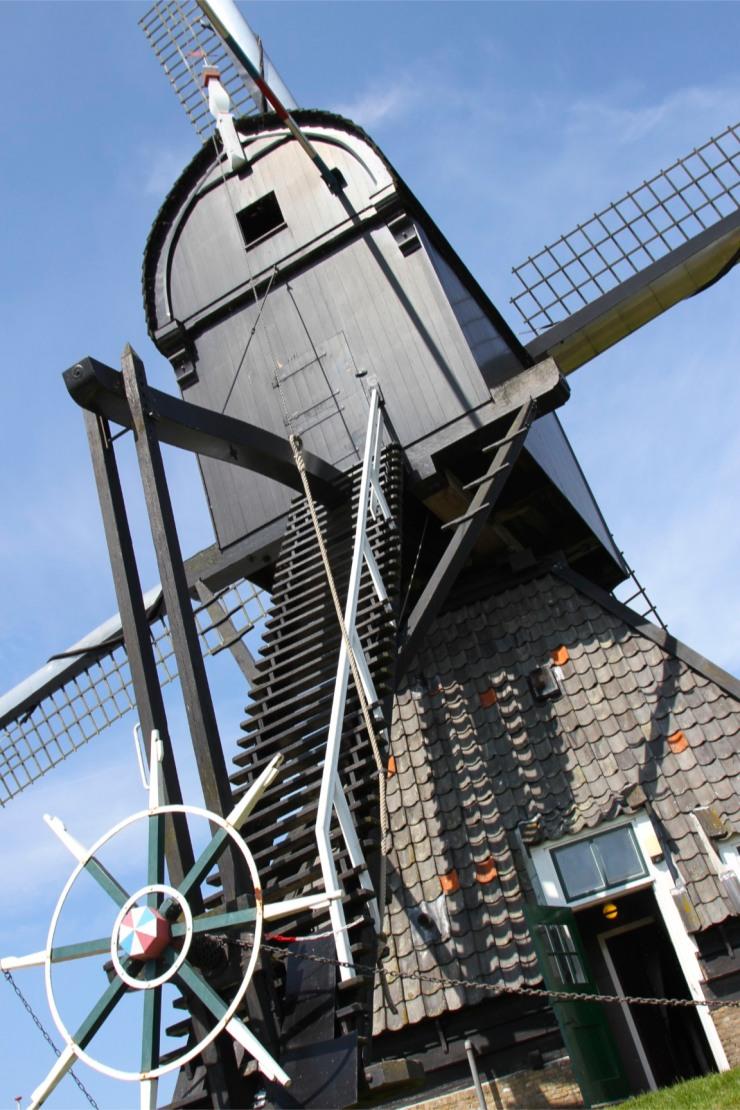 De Blokker Post windmill at Kinderdijk, Netherlands