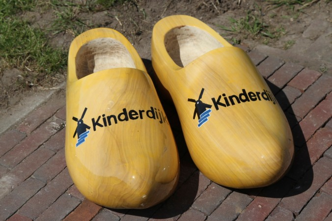 Giant clogs at Kinderdijk, Netherlands