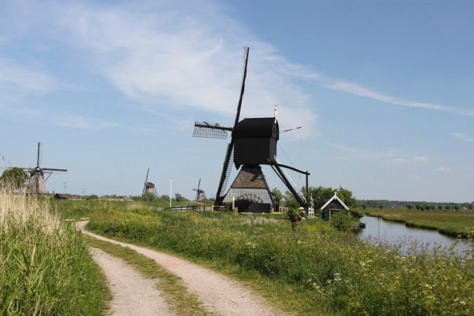 De Blokker Post windmill at Kinderdijk, Netherlands