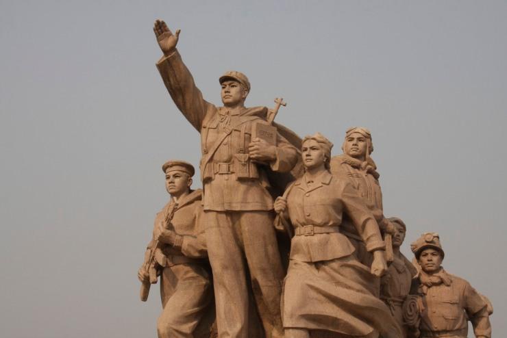 Communist statue in Tian'anmen Square, Beijing, China