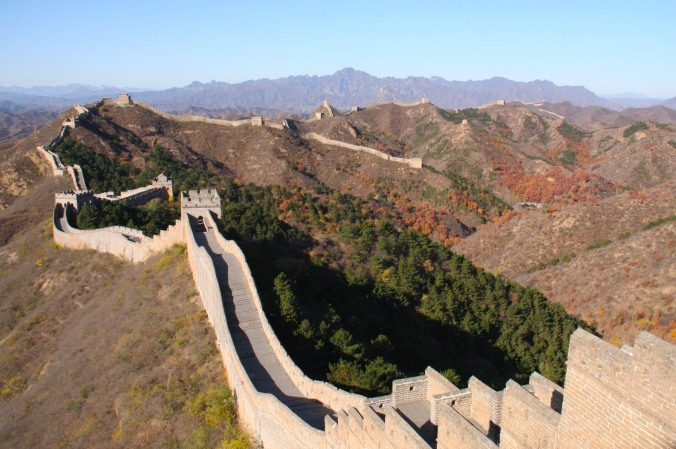 The Great Wall of China near Beijing, China