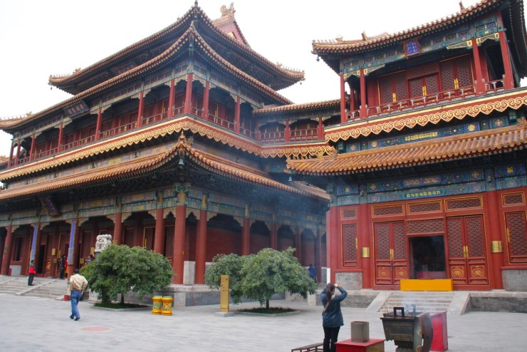 Yonghe Gong Buddhist temple, Beijing, China
