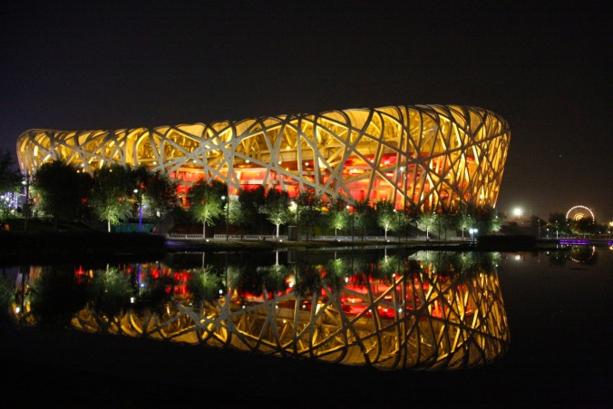The 'Birds nest' National Stadium, Beijing, China