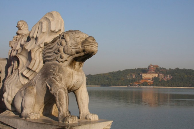 Statue, Summer Palace, Beijing, China