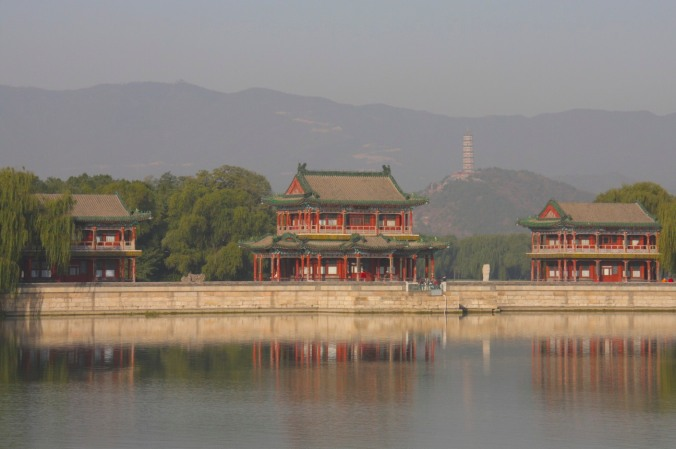 Buildings on Kunming Lake, The Summer Palace, Beijing, China