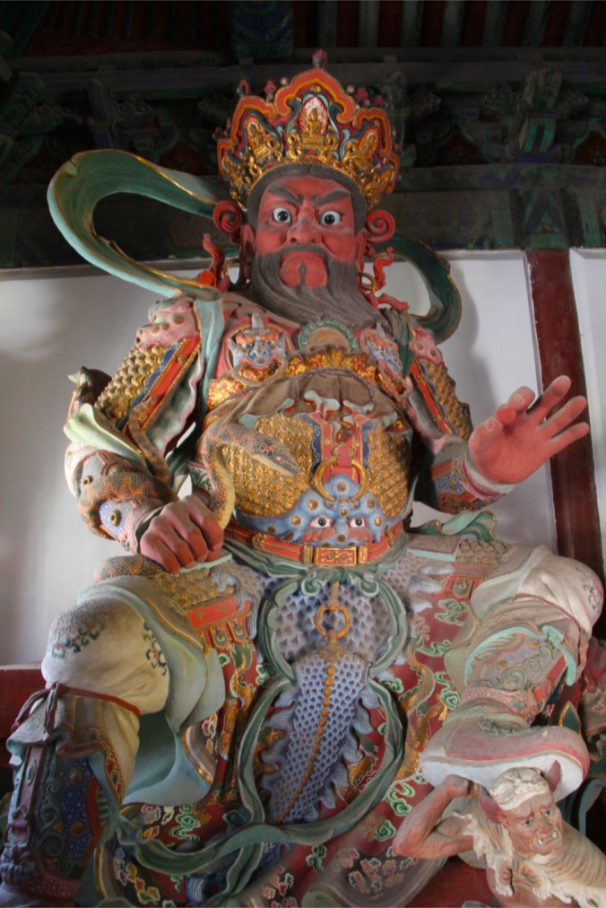 Buddhist statue, Jietai Si temple, Beijing, China
