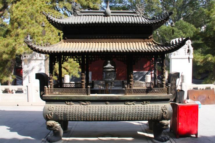 Incense burner, Jietai Si temple, Beijing, China