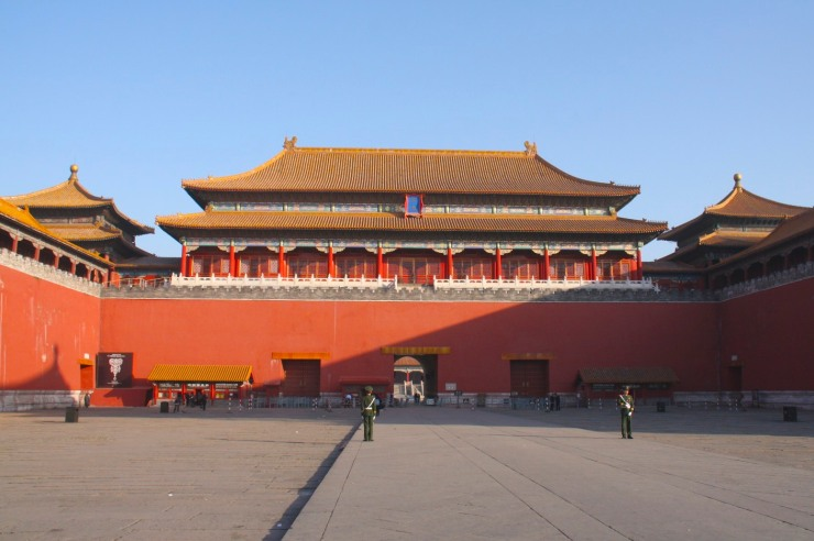 The giant entrance to The Forbidden City, Beijing, China