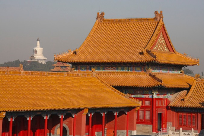 Golden roofs, The Forbidden City, Beijing, China