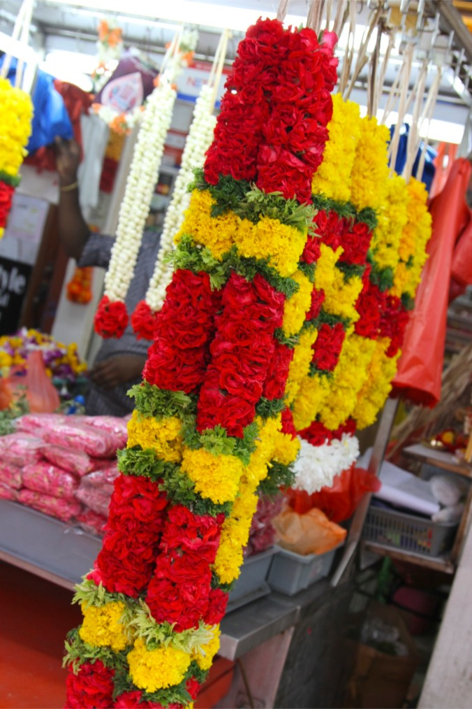 Religious flowers, Little India, Singapore
