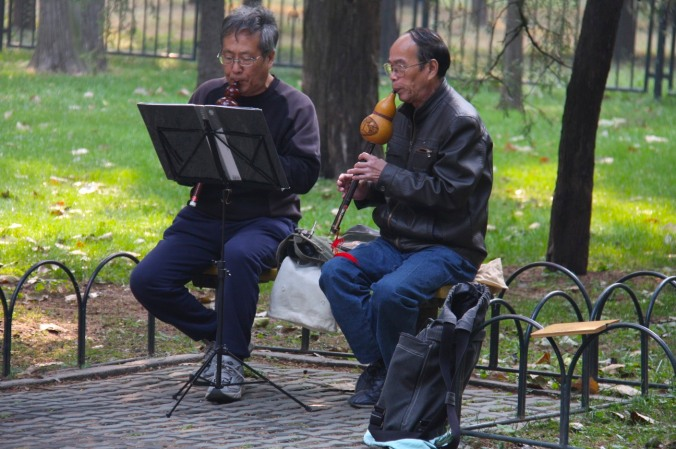 Musicians, the Temple of Heaven, Beijing, China