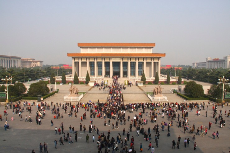 Mao's mausoleum, Tiananmen Square, Beijing, China