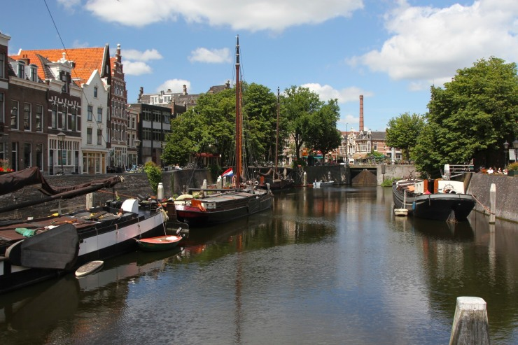 Traditional Dutch barges Delfshaven, Netherlands