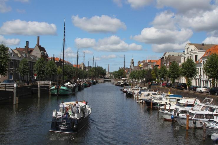 Traditional Dutch barges Delfshaven, Netherlands