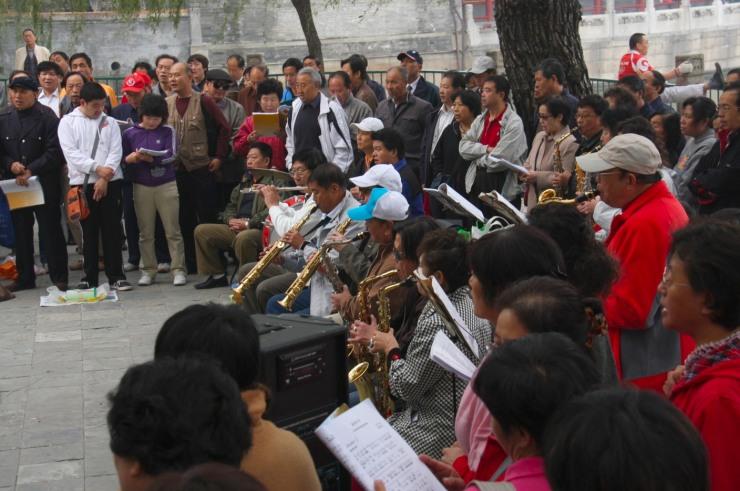 Musicians in Beihai Park, Beijing, China