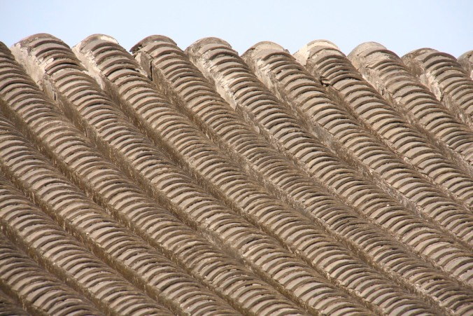 Roof tiles in a hutong, Beijing, China