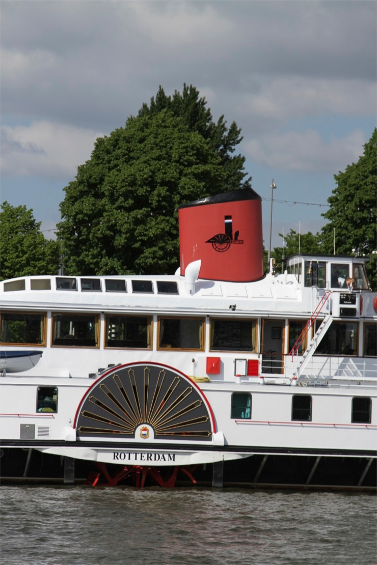 Boat on the Nieuwe Maas, Rotterdam, Netherlands
