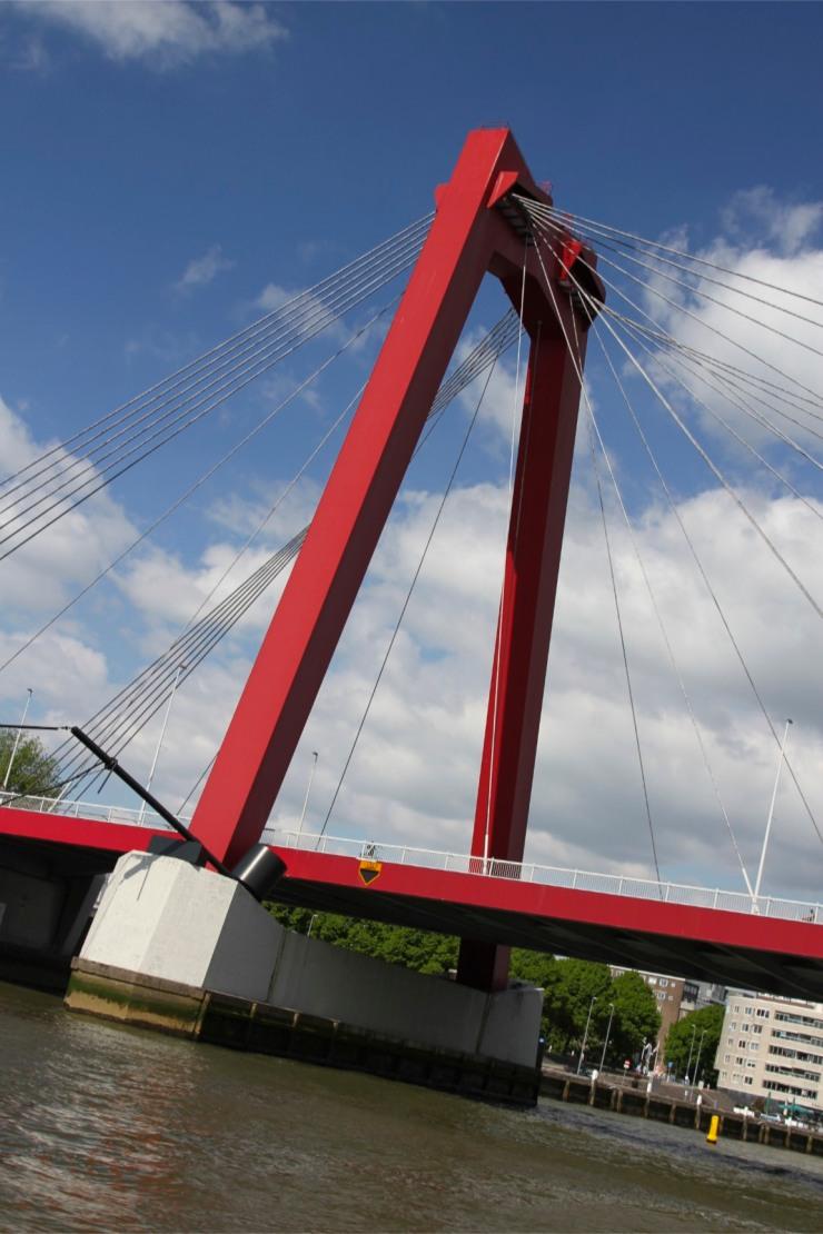 Willemsbrug from the Nieuwe Maas river, Rotterdam, Netherlands