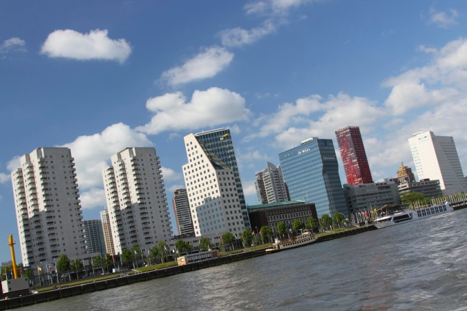 Rotterdam from the Nieuwe Maas river, Rotterdam, Netherlands