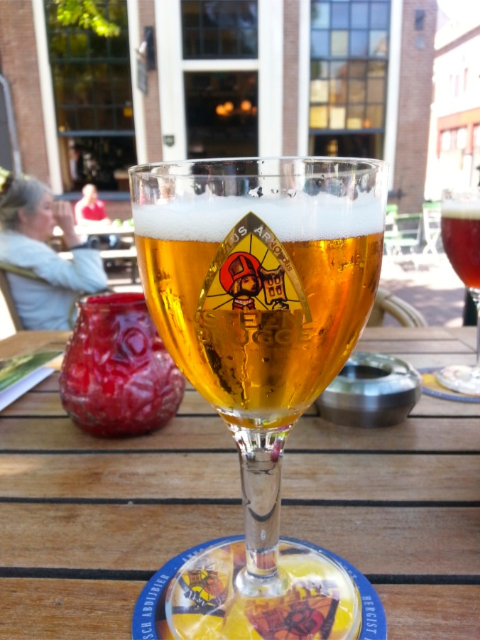 Steenbrugge Blonde from the Palm Brewery, tasted in Delft