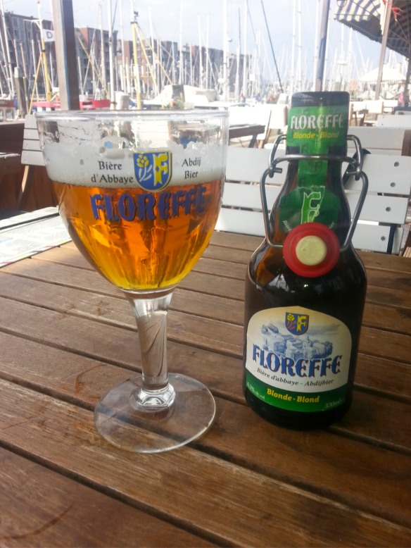 Light and sweet Floreffe Blond, Abbey Beer from Belgium
