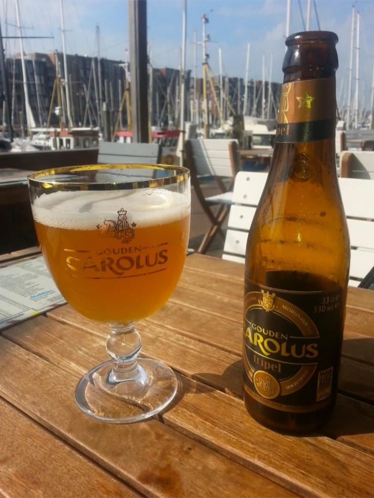 Gouden Carolus Tripel, tasting by Scheveningen harbour, The Hague