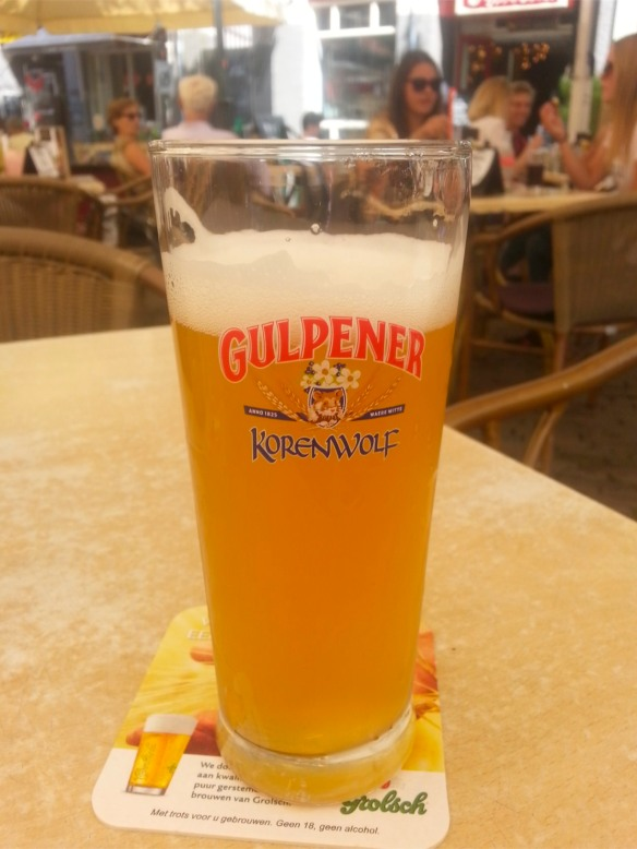 Korenwolf from Gulpener, cloudy and strong, tasted in Amersfoord